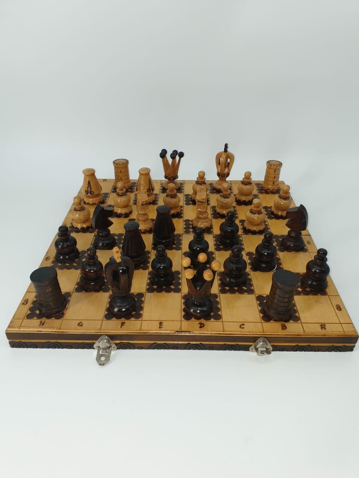 Zeer apart schaakbord