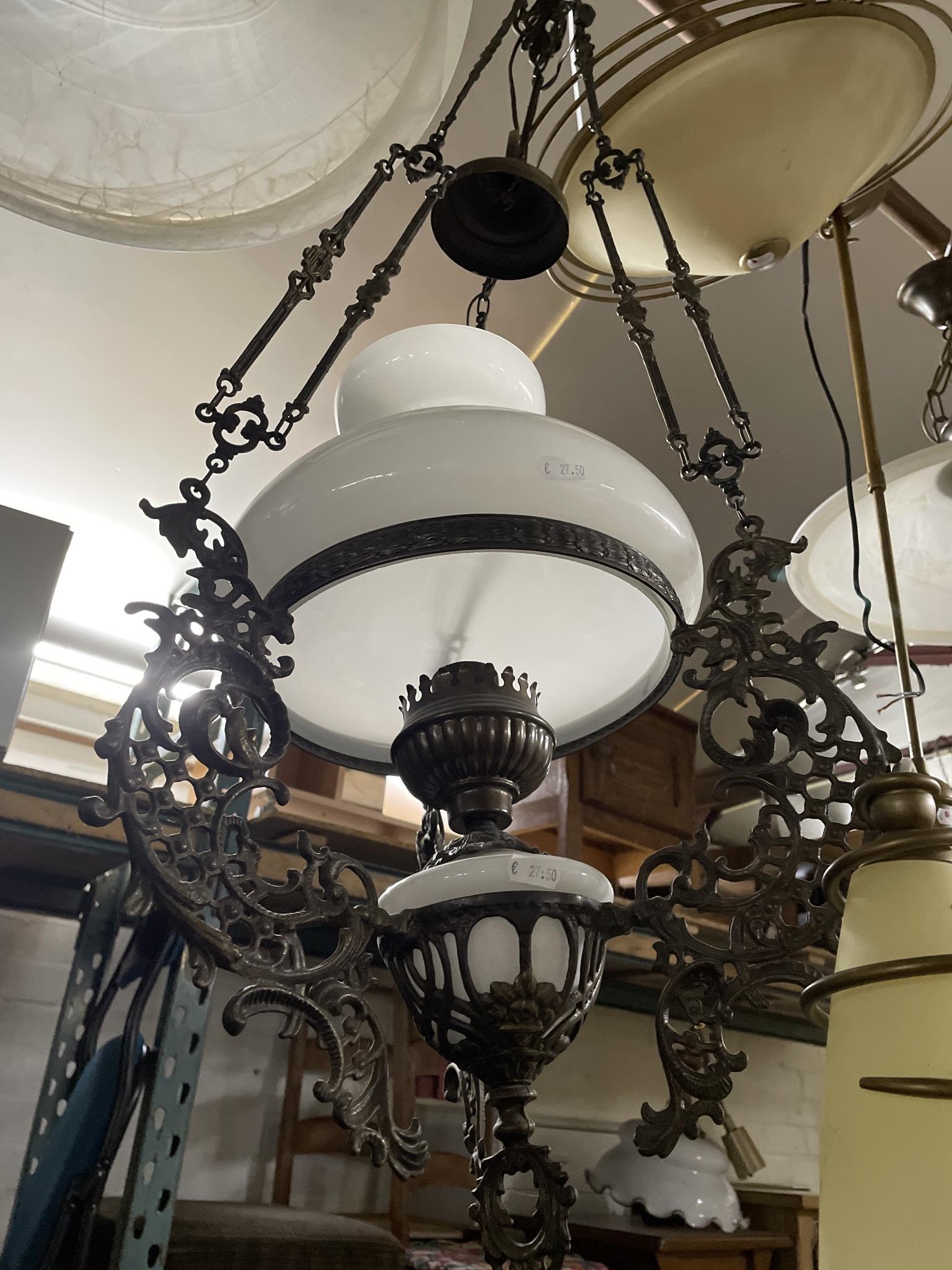 Mooie Antieke Lamp