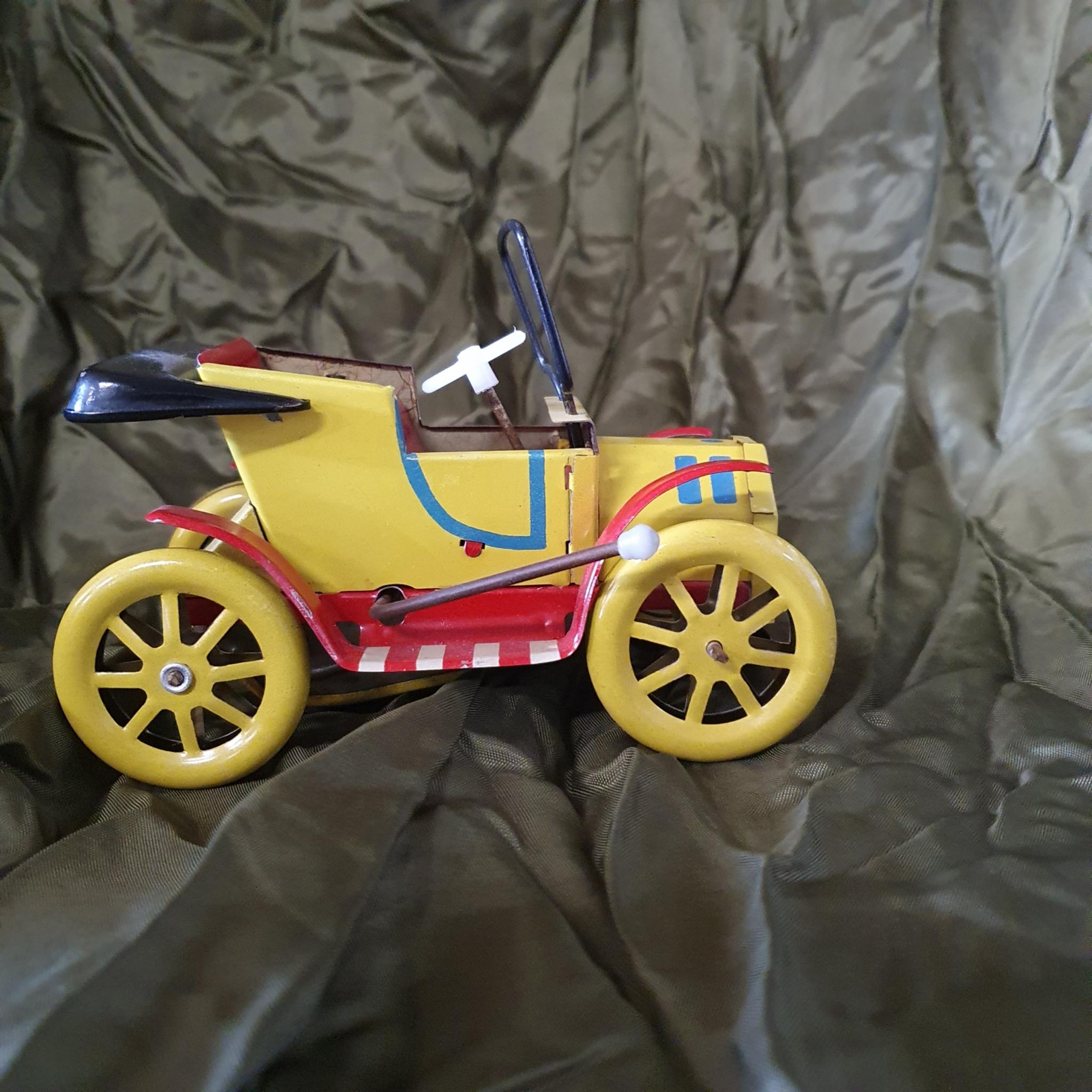 Vintage blik speelgoed auto